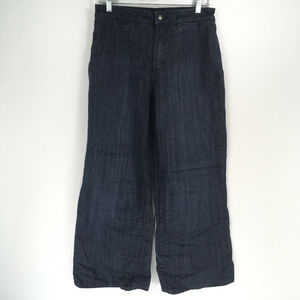 NYDJ Jeans 6 Dark Wide Crop HEMMED